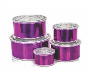 Mantimento Alumínio Color com tampa plástica - 5 pçs