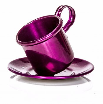 Xícara de Alumínio Color com Pires