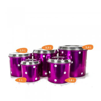 Mantimento Alumínio - 5 Peças Decoração Bolinha