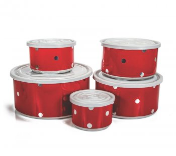 Mantimento Alumínio Color Poá tampa plástica - 5 pçs