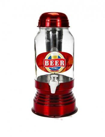 Chopeira de vidro c/ dispenser para gelo 3 lt